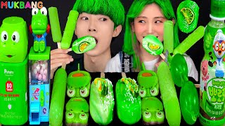 ASMR ICE CREAM GREEN PARTY 다양한 그린 아이스크림 젤리 먹방 DESSERTS JELLY CANDY MUKBANG EATING SOUNDS 咀嚼音 モッパン