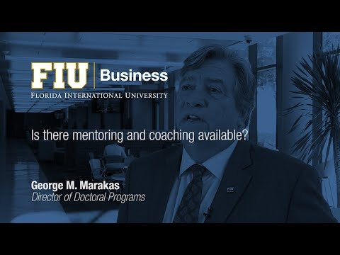 Is there mentoring and coaching available in the DBA program?