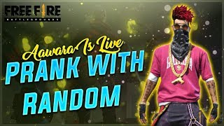 Free Fire Live Playing With Rendom Player - TEAM BFA #aawara007