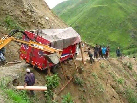 Camion por caer