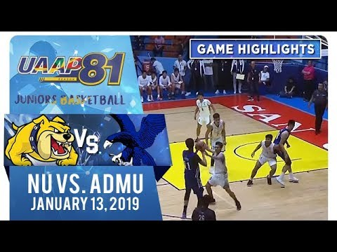UAAP 81 Junior's Basketball - Round 2: NU vs. ADMU | Game Highlights | January 13, 2019