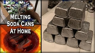 Melting Aluminum Cans At Home - Easy DIY Recycling Process