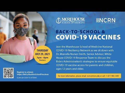 #CommunityConversations: Back-To-School & COVID-19 Vaccines