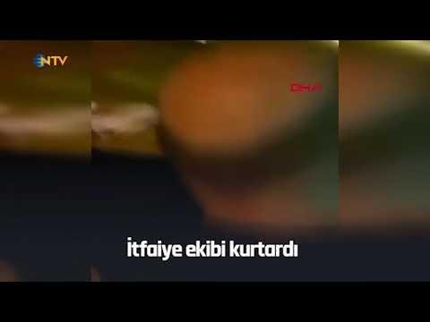 NTV | Giysi toplama kutusuna girip çıkamayan adamı itfaiye kurtardı