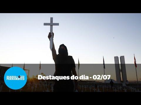 Notícias de 02/07- Brasil passa das 60 mil mortes, prefeito tem bens bloqueados e conta de luz