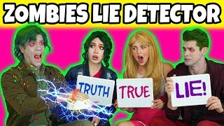 ZOMBIES LIE DETECTOR TEST (We Play Bonzo, Zed, Eliza & Addison Characters from Disney Zombies Movie)