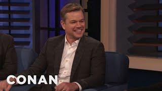 Matt Damon Left A Massive Spider On Chris Hemsworth's Doorstep - CONAN on TBS