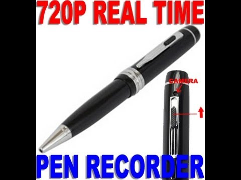 Hollywood Spy Shop HD 720p Spy Pen Video Camera Recorder with Audio (Sample Video)