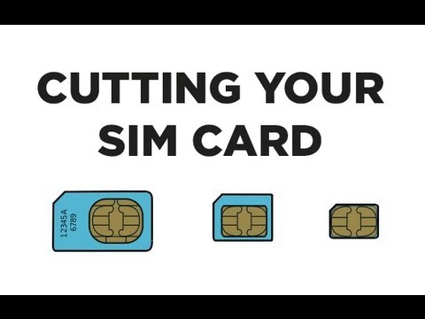 Cut your SIM Card into a NanoSIM Card WITH Printable Template - iPhone ...