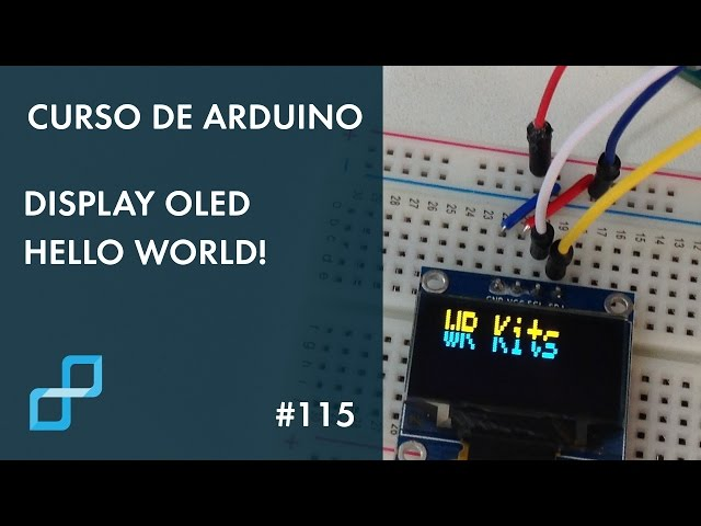DISPLAY OLED HELLO WORLD | Curso de Arduino #115
