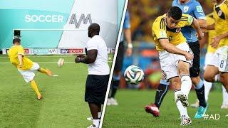 Akinfenwa & Smithy recreate LEGENDARY Colombia World Cup goal!