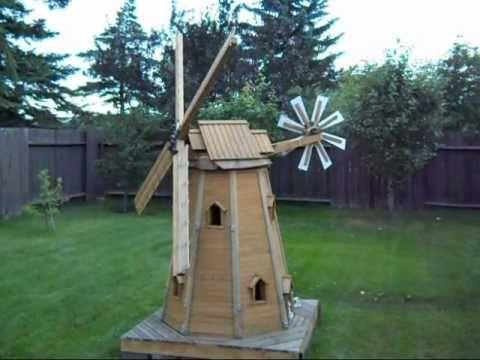 Wooden Homemade Garden Windmill By Laszlo Youtube