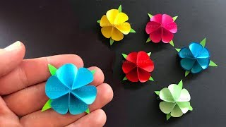 Paper Flowers using Origami paper 🌸 Tiny paper flowers