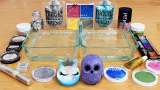 Holo vs Glitter - Mixing Makeup and Eyeshadow into Slime! Special Series 58! Satisfying Slime Video