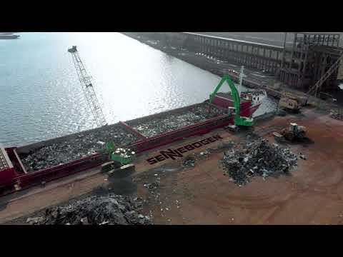 SENNEBOGEN 640 Crawler Pylon - Scrap Compacting in the Port of Constanta, Romania