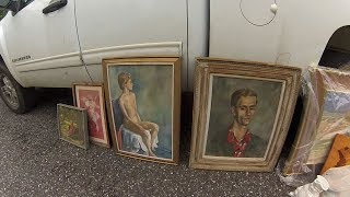 Buying Original OIL PAINTINGS For $2 Each!!!