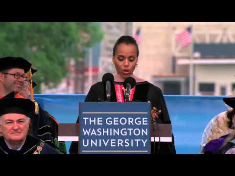 GW Commencement 2013: Kerry Washington - YouTube