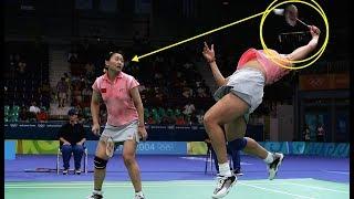 【バドミントン】えっっ!?思わず笑ってしまうハプニングプレー【badminton】