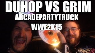 Duhop & Grim play WWE 2k15 for xbox 360 on the Arcade Party Truck