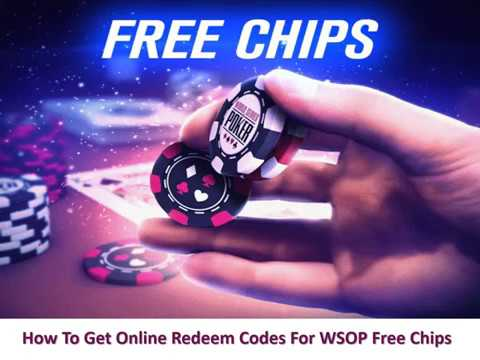 How To Get Online Redeem Codes For WSOP Free Chips