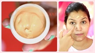 Make your own BB cream (application demo)/ DIY- make your own BB Cream easily
