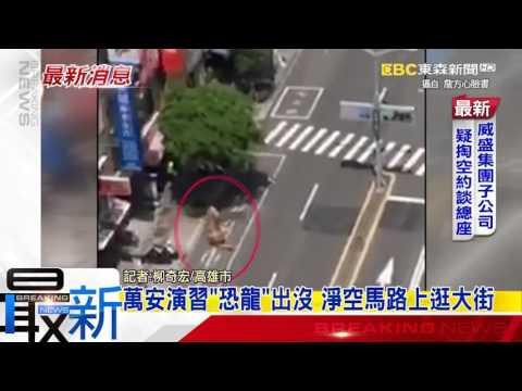 最新》萬安演習「恐龍」出沒 淨空馬路上逛大街