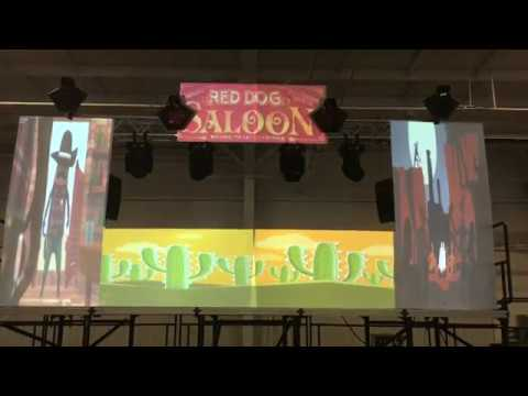 Saskatoon Video Projection Mapping   Custom DJ Booth   Armed With Harmony