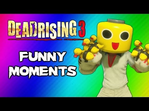 Dead Rising 3 Funny Moments Gameplay 3 - Invisible Zombie Glitch, Duck Gloves, Party Slapper Fun - Smashpipe Games