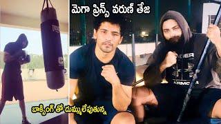 Lockdown Diaries: Mega prince Varun Tej punches boxing bag..