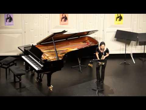 Dinant 2014 - SAKAI Nozomi ( First Violin Sonata, BWV 1001 - Presto by J.S. Bach)