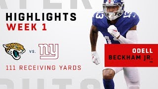 OBJ Snags 111 Receiving Yards in 1st Game Back!