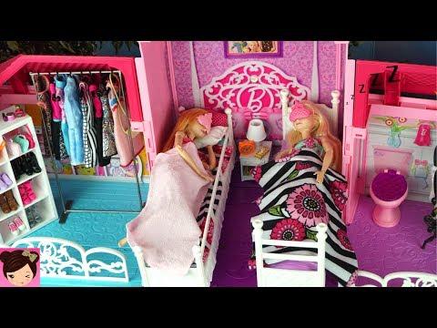 Disney Frozen Slaapkamer : Barbie house morning routine princess bedroom frozen queen elsa