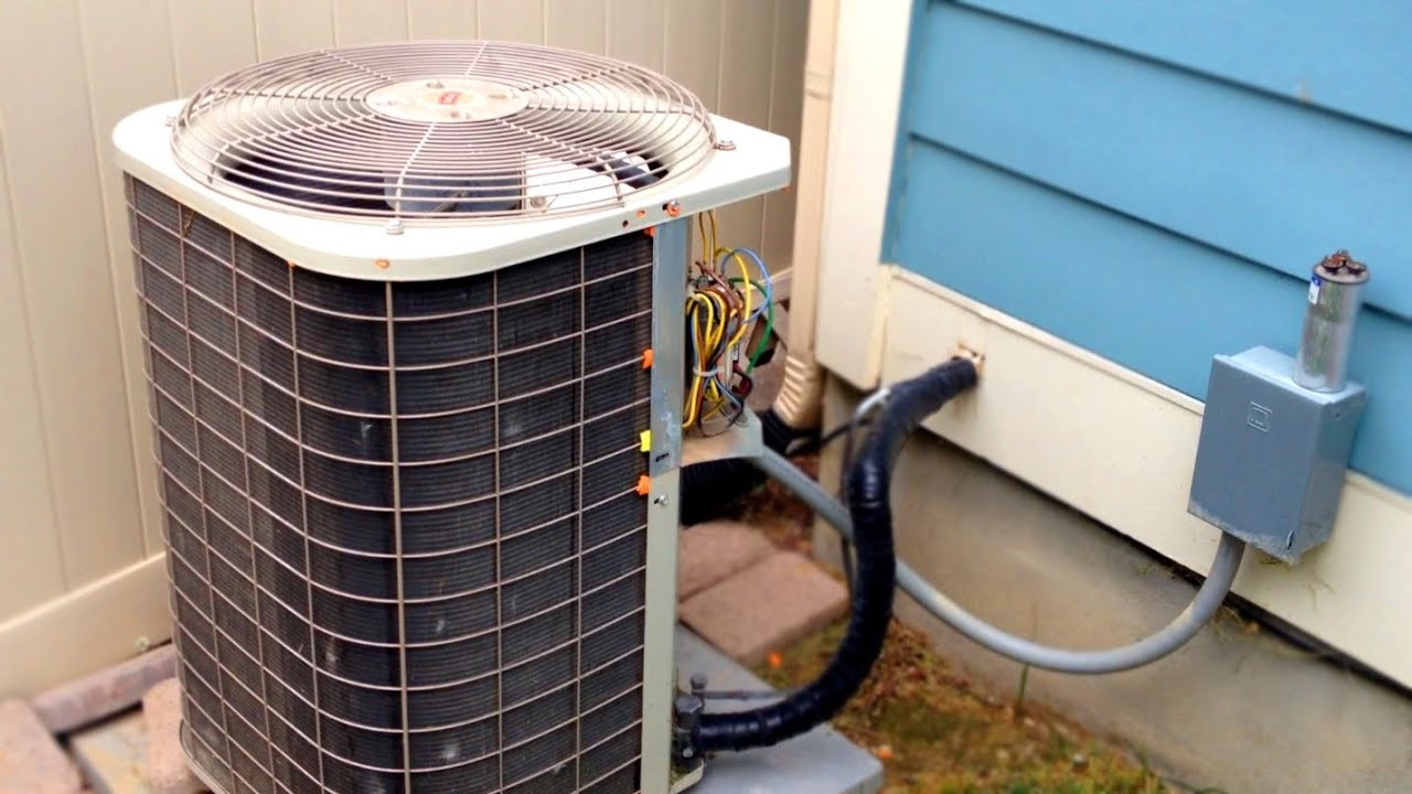 General Electric Air Compressor Wiring Diagram Freebootstrapthemes Ac Pressor The I Fan Not Working How To Repair Broken Conditioner Hvac Run Start Capacitor Youtube