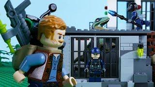 LEGO Jurassic World STOP MOTION LEGO Dinosaur Prison Break   LEGO Jurassic World   By Billy Bricks