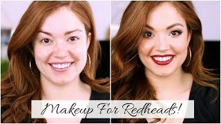MAKEUP TUTORIAL FOR REDHEADS!!            Makeup for FAIR skin!