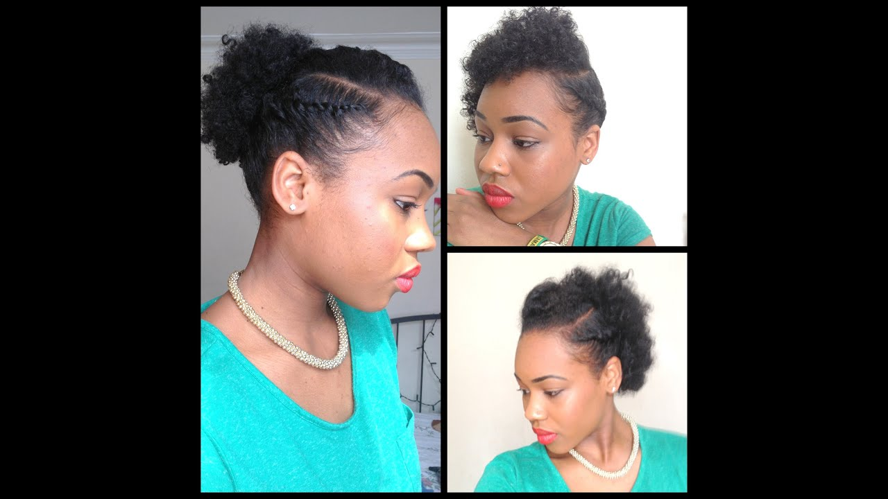 3 Hairstyles For Short Hair: 32. 3 Quick Easy Style For Short Natural Hair ( Wash And