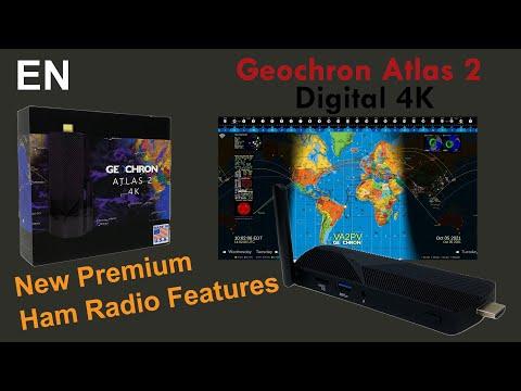 Geochron 4k Atlas 2 Ham Radio World Clock