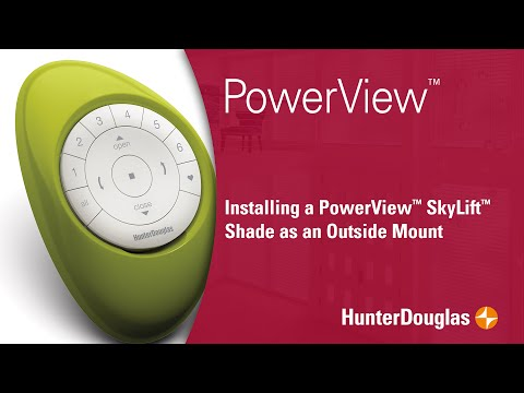 PowerView™ Honeycomb Shades with SkyLift™ - Outside Mounting (OB) Instructions - Hunter Douglas