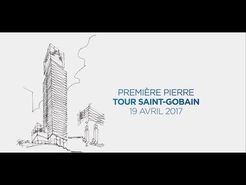 Pose de la première pierre de la Tour Saint-Gobain - 19 avril 2017