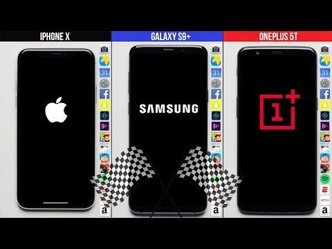 Galaxy S9+ vs. iPhone X vs. OnePlus 5T Speed Test