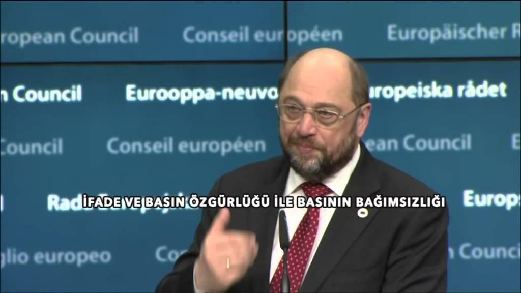 """Avrupa Parlamentosu Başkanı Schulz'dan Türkiye açıklaması: """"Basın özgürlüğü temel değerdir"""""""