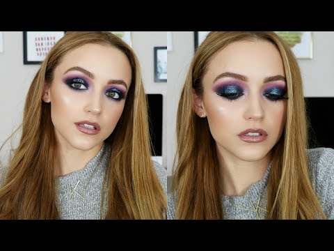 Purple & Blue Glitter | Makeup Tutorial