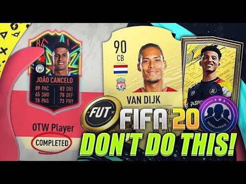WHAT NOT TO DO ON THE FIFA 20 WEB APP!