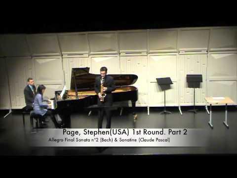 Page, Stephen(USA) 1st Round. Part 2