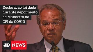 Ministro Paulo Guedes critica politicagem sobre mortes por COVID-19 - #JM