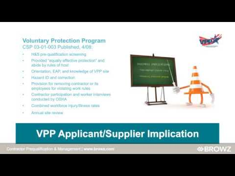 [Webinar] VPP Status- Continuous Process Improvement through Contractor Prequalification