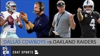 Cowboys Vs. Raiders Debate: Dak Prescott Vs. Derek Carr, Amari Cooper Vs. Antonio Brown + Mailbag