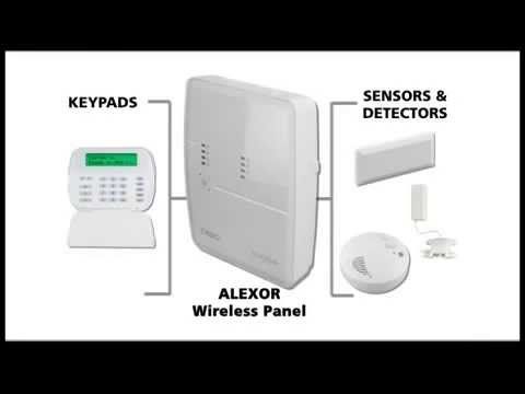 ALEXOR - 2 Way Wireless Security System user video