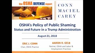 Status and Future of OSHA's Policy of Public Shaming