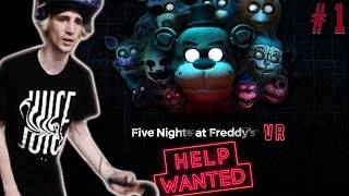 XQC PLAYS FIVE NIGHTS AT FREDDY'S VR: HELP WANTED (FNAF VR) | Part 1